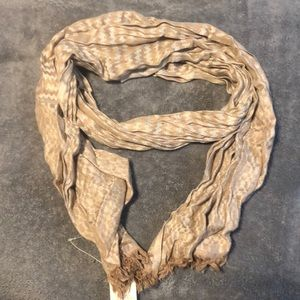 Tan fringed scarf